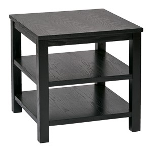 Merge Black 20-Inch Wide Square End Table