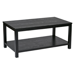 Merge Black 42-Inch Wide Rectangular Cocktail Table