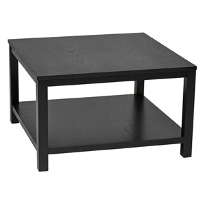 Merge Black 30-Inch Wide Square Coffee Table