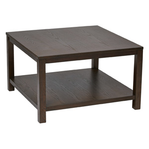 Merge Espresso 30-Inch Wide Square Coffee Table