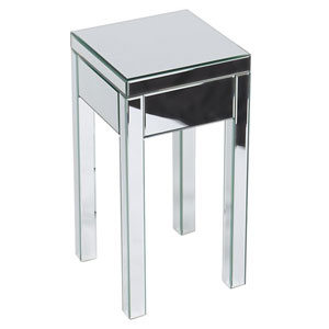 Reflections Silver Mirrored End Table