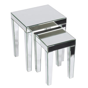 Reflections Silver Mirrored Nesting Table