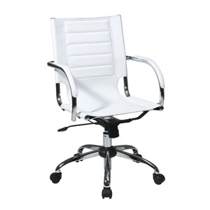 Trinidad White Office Chair