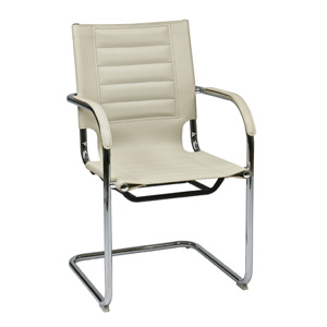 Trinidad Cream Vinyl Guest Chair