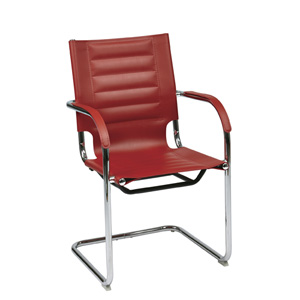 Trinidad Red Vinyl Guest Chair