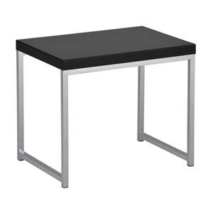 Wall Street End Table Chrome/Black