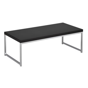 Wall Street Coffee Table Chrome/Black