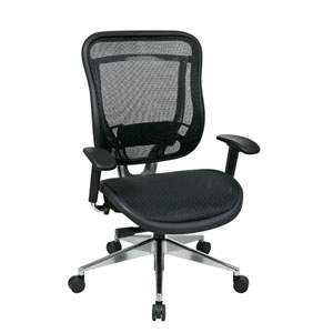 Space Seating Executive High Back Chair with Breathable Mesh Back
