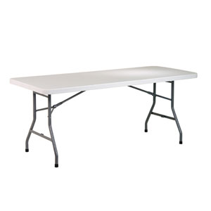 Work Smart Six Foot Resin Multi Purpose Table