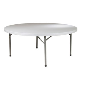 Work Smart 71 Inch Round Resin Multi Purpose Table