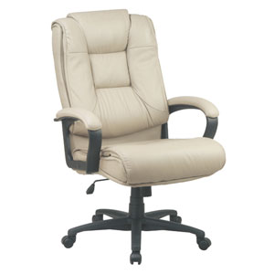 Executive Tan High Back Glove Soft Leather Chair