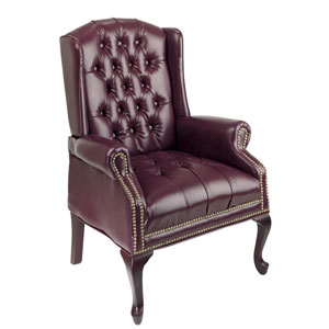 Executive Mahogany Traditional Queen Anne Style Chair