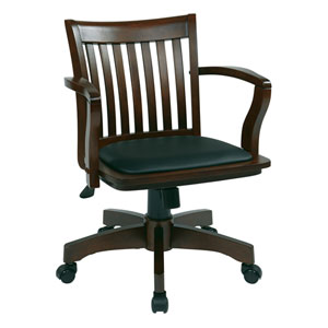 Espresso Wood Bankers Chair
