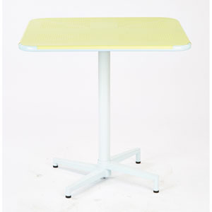 Albany Pastel Lemon 30-Inch Square Folding Table