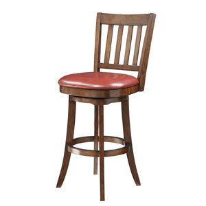 INSPIRED by Bassett Mission Crimson Red Bar Stool