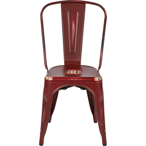 Bristow Antique Red Armless Chair, Set of 2
