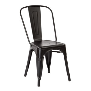 Bristow Matte Black Armless Chair, Set of 2