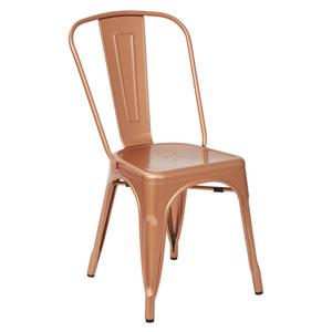 Bristow Armless Chair, Copper, Set of 2