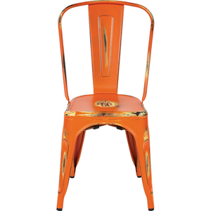 Bristow Antique Orange Armless Chair, Set of 4