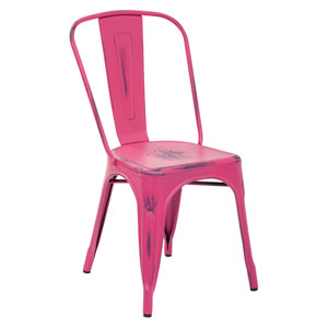 Bristow Antique Pink Armless Chair, Set of 4