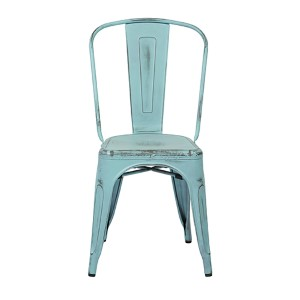 Bristow Antique Sky Blue Armless Chair, Set of 4
