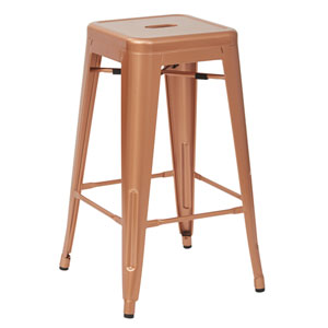 Bristow 26-Inch Antique Metal Barstools, Copper, Set of 2