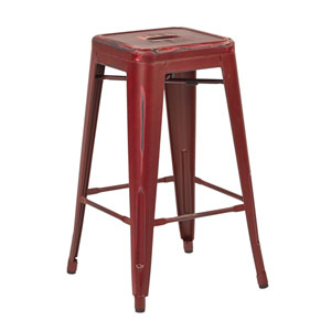 Bristow Dark Red 26-Inch Barstool, Set of 4