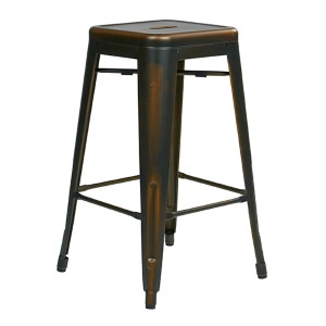 Bristow Antique Copper 26-Inch High Metal Barstool, Set of 4