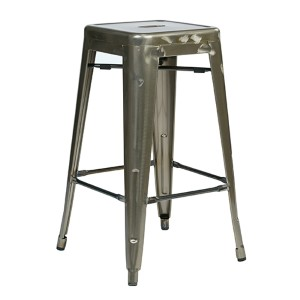 Bristow Gun Metal 26-Inch High Barstool, Set of 4