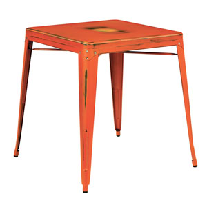 Bristow Antique Orange Antique Metal Table