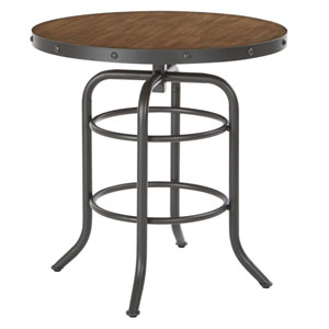 Batson Table with Sandstone Top and Gunmetal Base, ASM