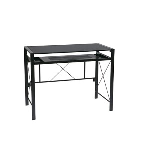 Creston Black Desk with Black Top