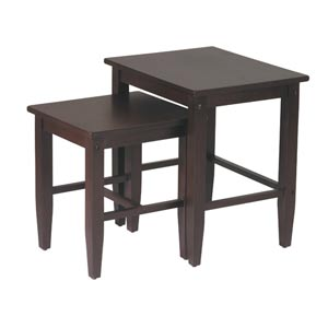 Espresso Two Piece Nesting Table Set