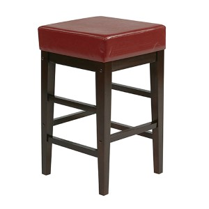 Metro Red 25-Inch High Square Stool