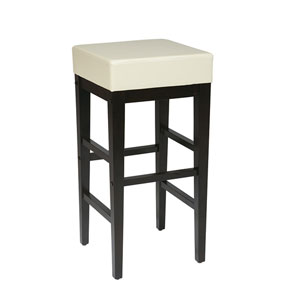 Metro Cream Faux Leather 30-Inch Barstool