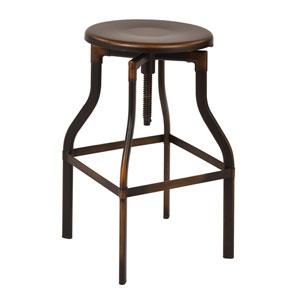 Eastvale Antique Copper 30-Inch Metal Barstool