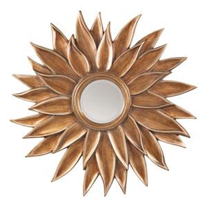 Gold Beveled Sun Flower Wall Mirror