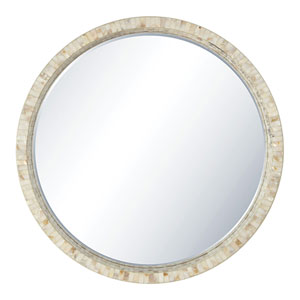 Lillie Wall Mirror in White Finish