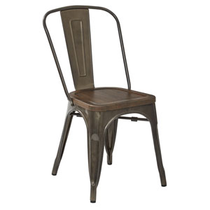 Indio Metal Chair with Wood Seat