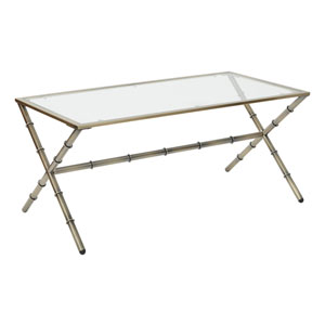 Lanai Coffee Table in Antique Brass Finish