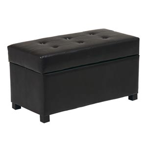 Metro Dark Brown Storage Ottoman/Chest