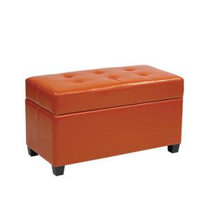 Metro Orange Storage Ottoman