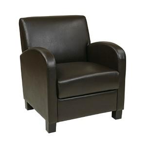 Metro Espresso Eco Leather Club Chair with Espresso Legs