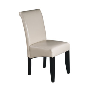 Parsons Cream Bonded Leather Dining Chair
