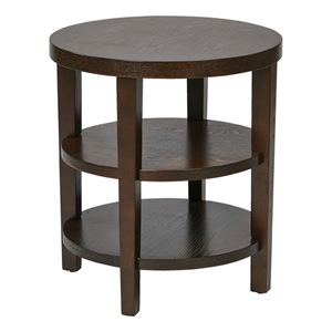 Merge Espresso Round End Table