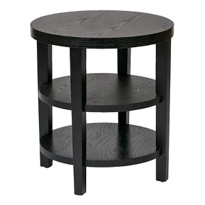 Merge Black Round End Table