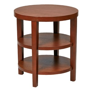 Merge Cherry Veneer Round End Table