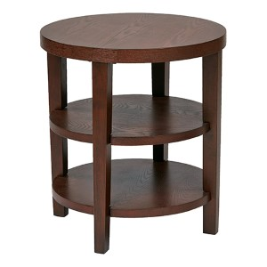 Merge Mahogany Round End Table