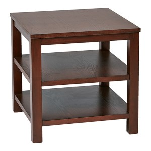 Merge Mahogany Square End Table