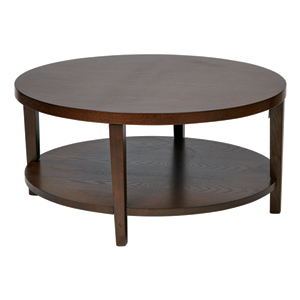 Merge Espresso Round Coffee Table